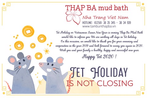 Tet Holiday IS NOT CLOSING Announcement