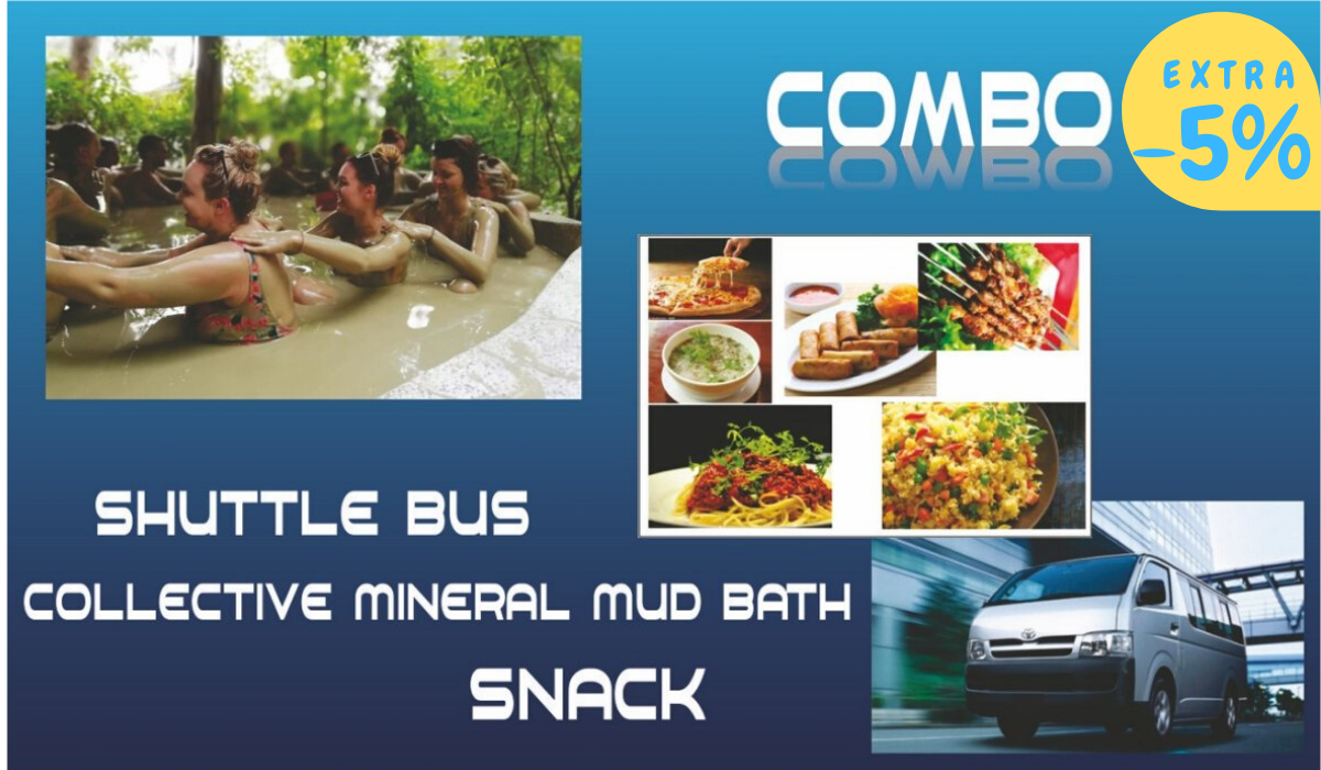 Collective mineral mud combo (Shuttle + Collective mineral mud bath + Snack)