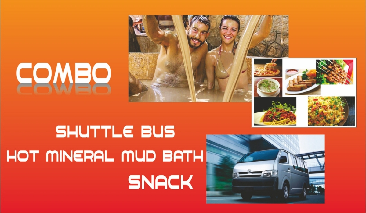 Hot mineral mud combo (Shuttle + Hot mineral mud bath + Snack)