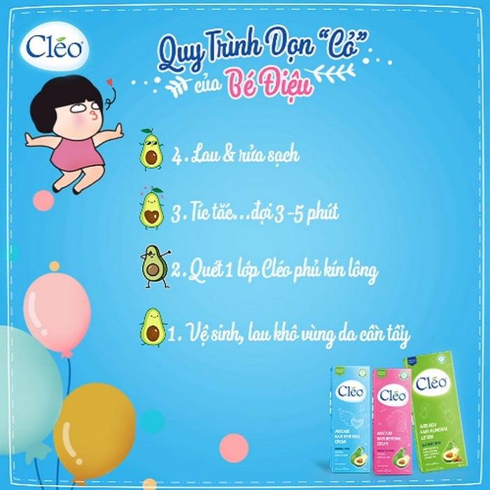 Cách sử dụng kem tẩy lông Cleo