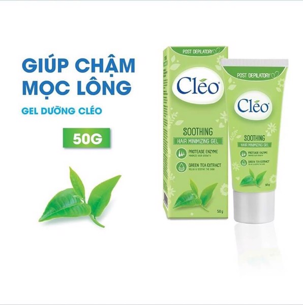 Gel dưỡng Cleo giúp chậm mọc lông