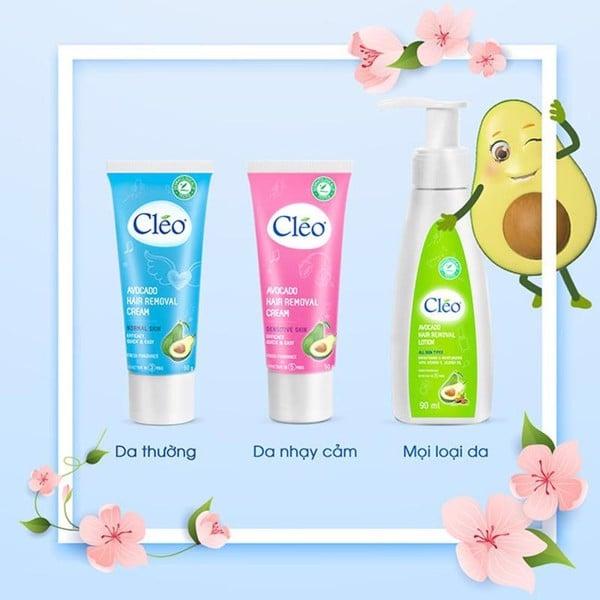 Ưu điểm của kem tẩy lông Cleo