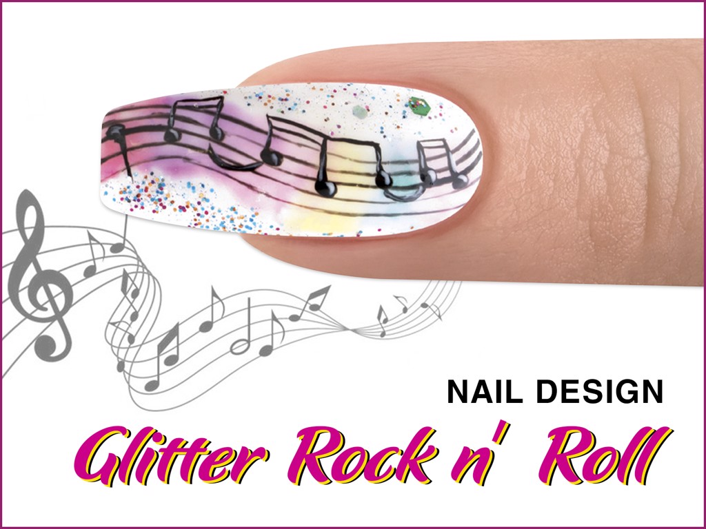 GLITTER ROCK N' ROLL Nail Design - ROCKETMAN Collection