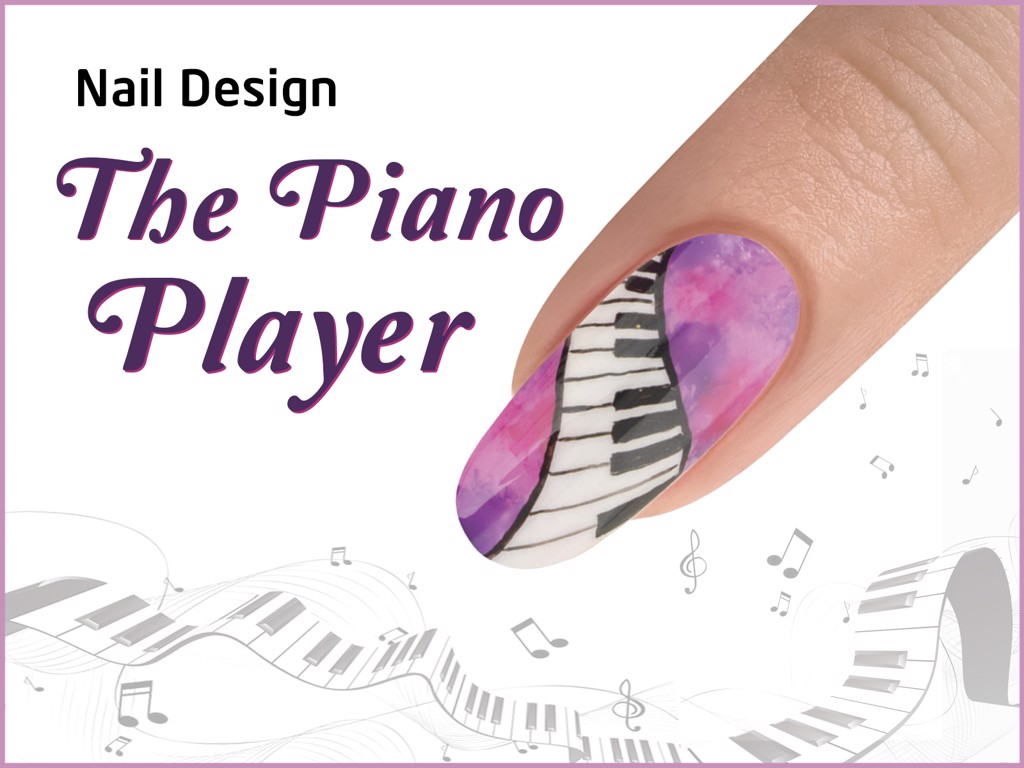 THE PIANO PLAYER Nail Design - ROCKETMAN Collection