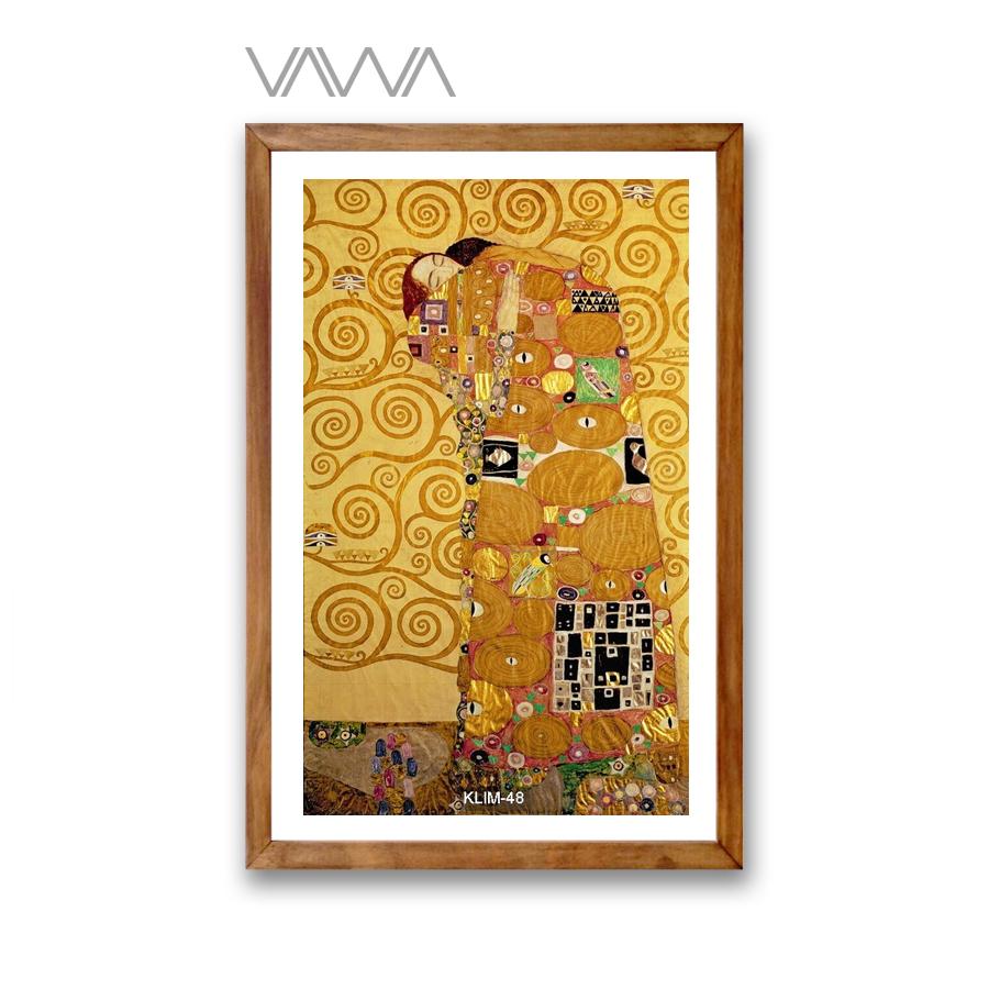 Tranh-canvas-cổ-điển-Châu-ÂU-Fulfillment-1905-09-Gustav -Klimt