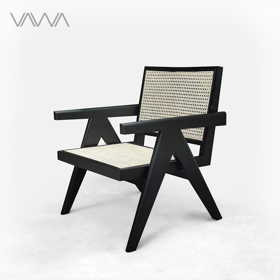 Easy-Armchair-Ghế-thư-giãn-PIERRE-JEANNERET-gỗ-mây