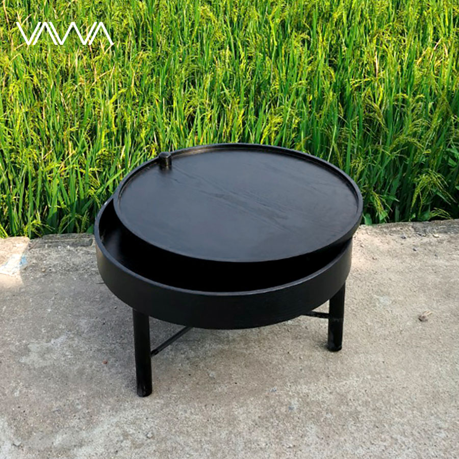 Bàn-trà-gỗ-tròn-xoay-Turning-Table