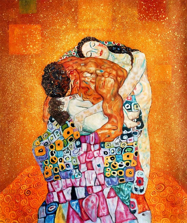 Tranh-cổ-điển-Châu-ÂU-gia-đình-THE-FAMILY-Gustav-Klimt