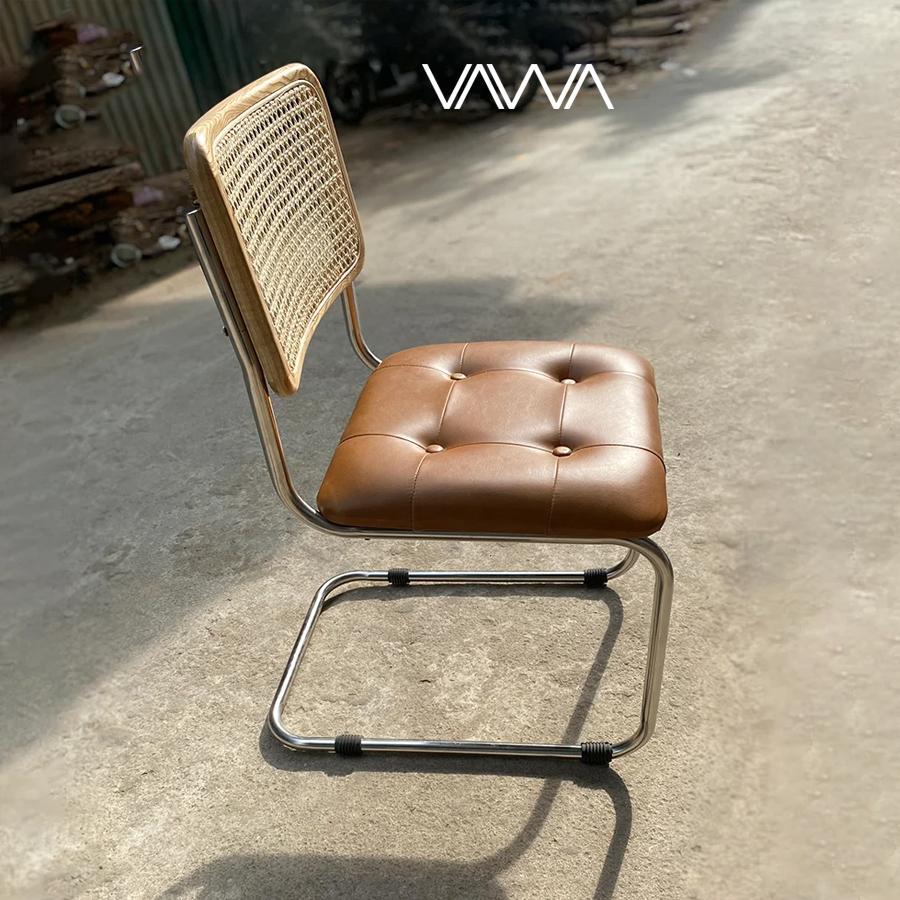 Ghế ăn ghế cafe CESCA inox lưng mây - CADEIRA CESCA B32