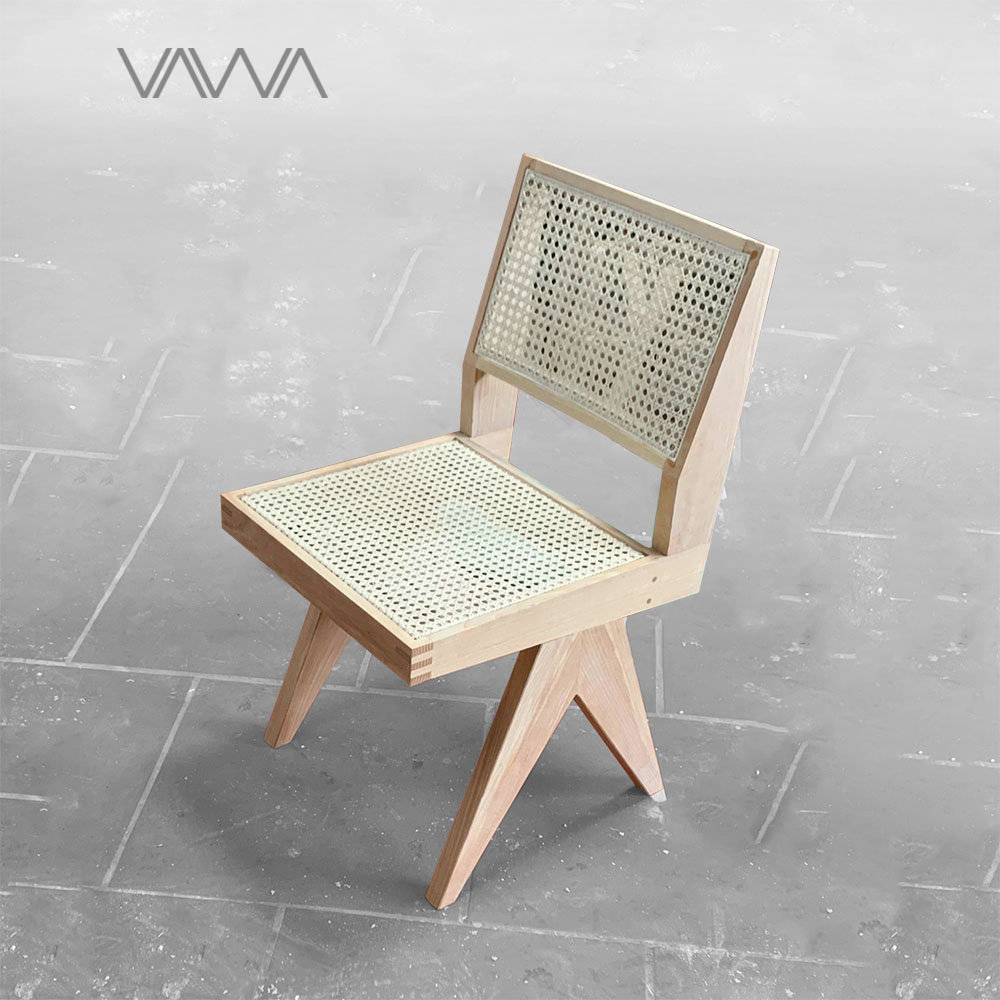 Ghế ăn ghế cafe Chandigarh chair ( Office Cane Chair ) không tay