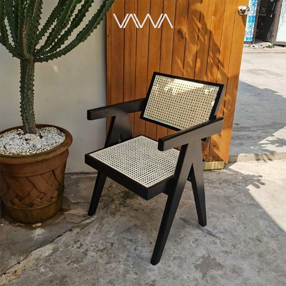 Ghế ăn ghế cafe Chandigarh chair ( Office Cane Chair )