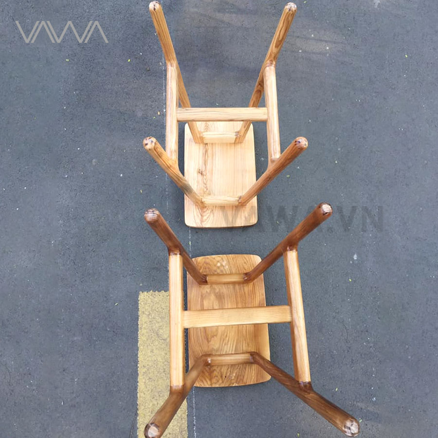 Ghế quầy bar cafe gỗ đẹp ART
