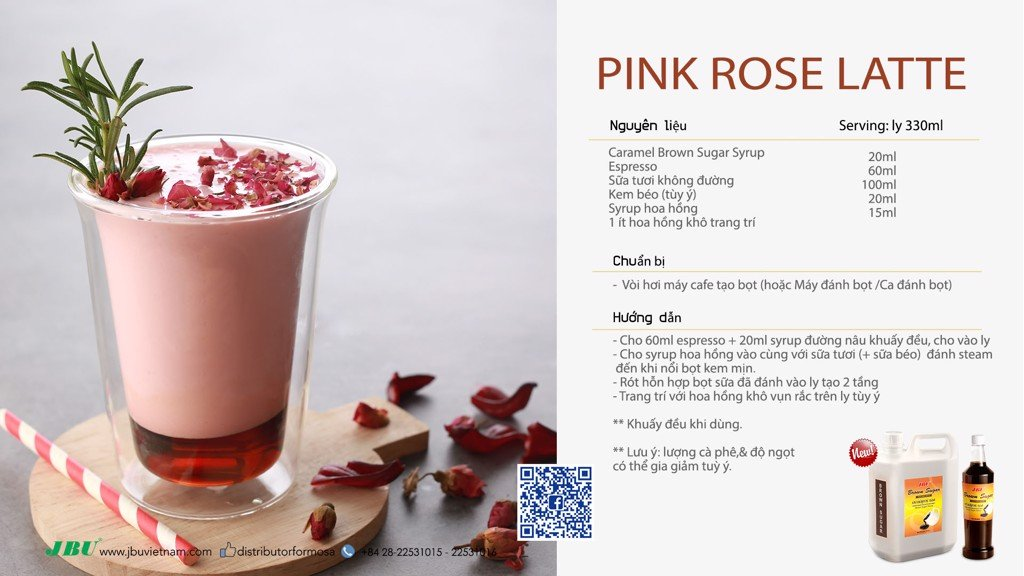 pink rose latte jbu brown sugar syrup