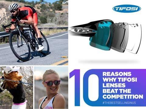 Top ten reasons why Tifosi lenses beat the competition