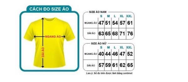 Cách chọn áo thun nam đúng size