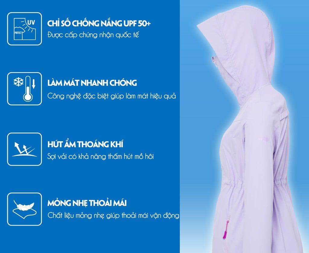 Áo khoác chống nắng nữ UV100 71018