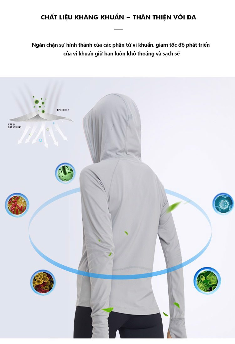 Áo khoác chống nắng nữ UV100 AA91063