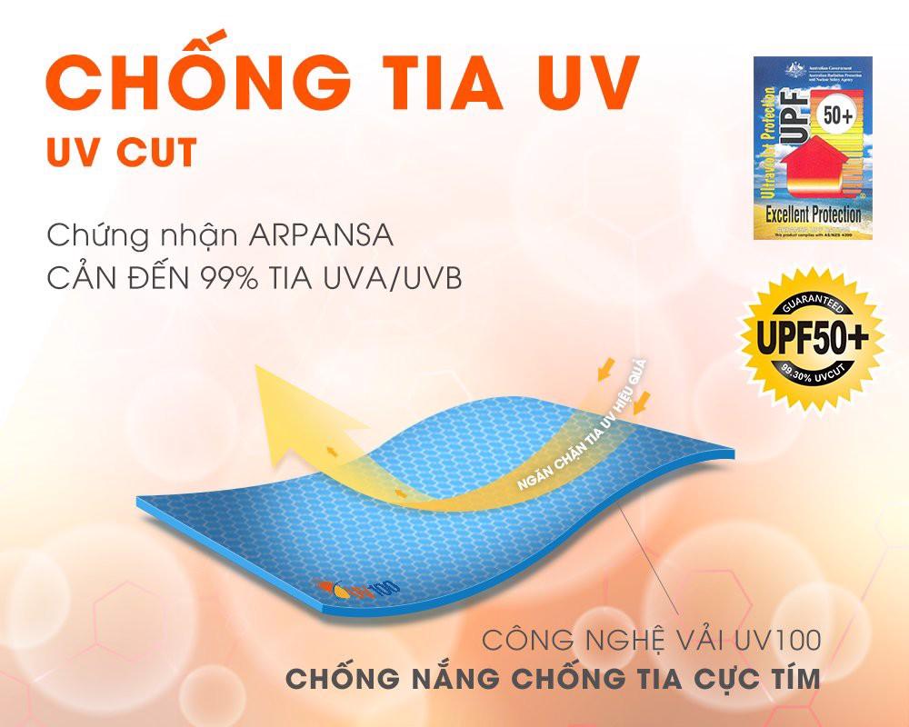 Găng tay dài chống tia UV UV100 KA 71350