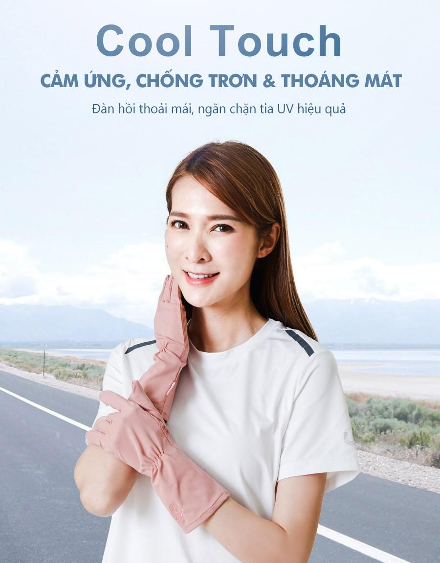 Găng tay ngắn chống nắng nữ UV100 KC21346