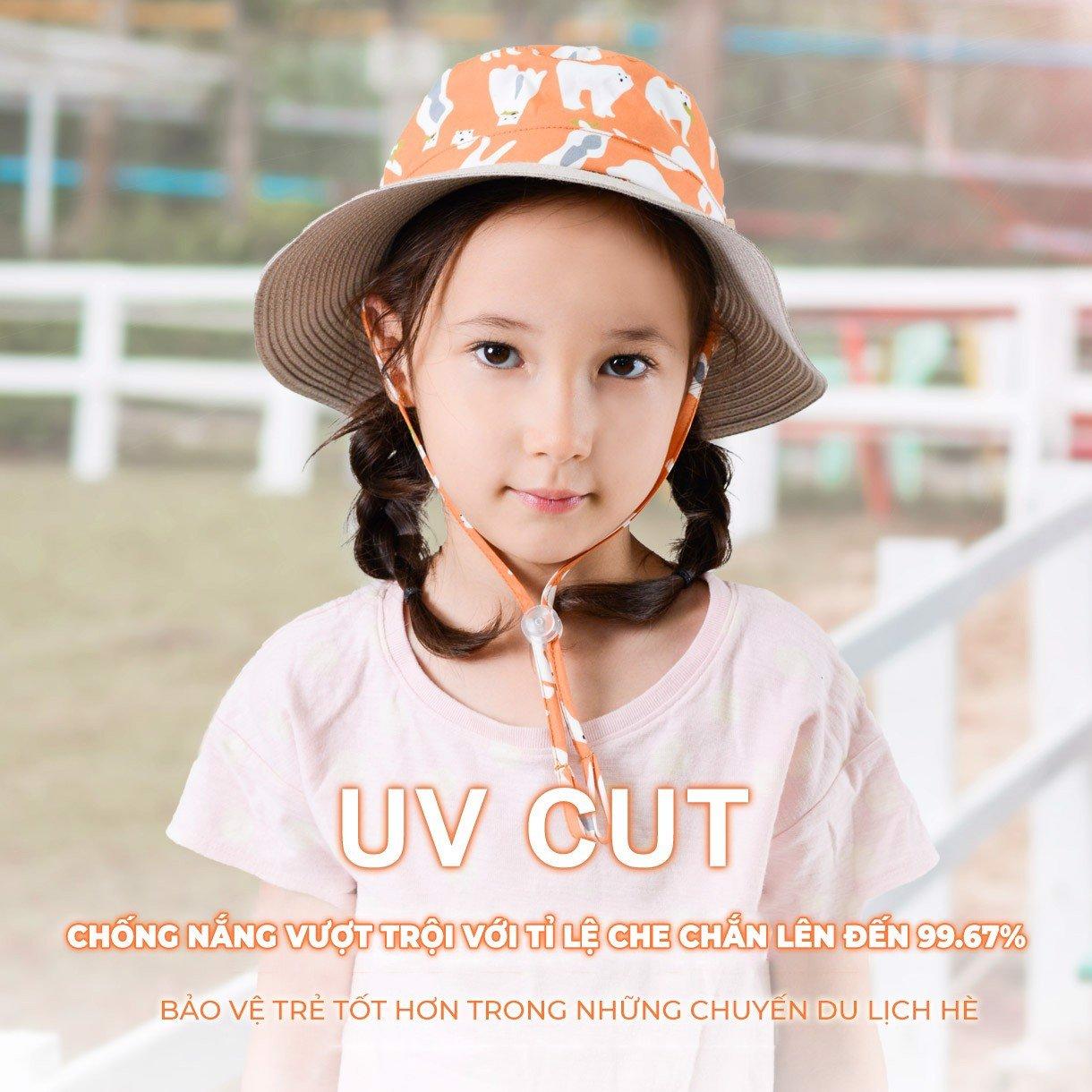 Nón chống tia UV trẻ em UV100 ME 20365