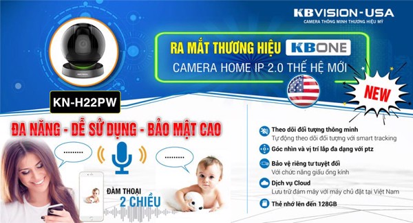 Camera IP Wifi 2MP KBONE KN-H22PW