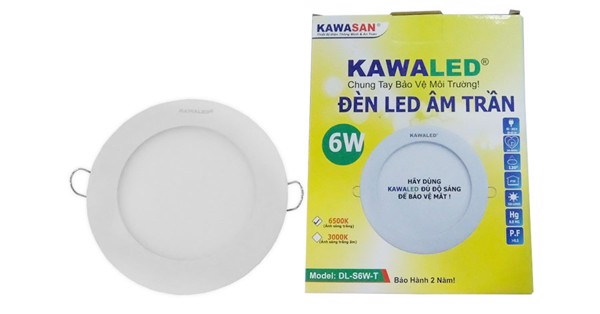 Bán Đèn LED downlight Kawa DL108-6W-T/V 2