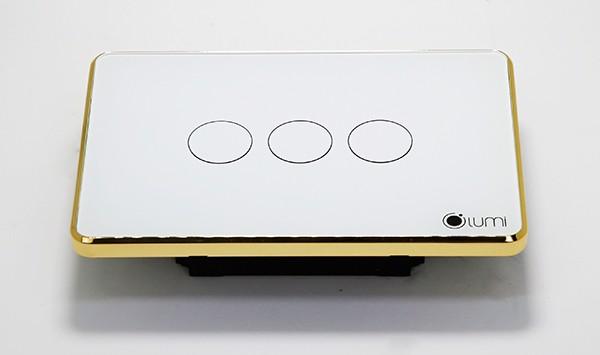 Lumi LM-S3L mặt kính trắng mạ vàng bản cao cấp