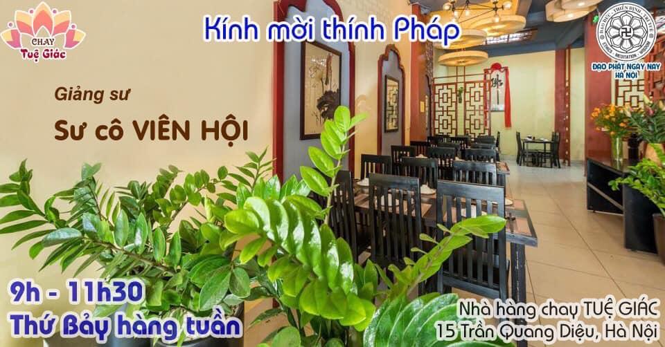 Khóa Thiền 1 ngày hàng tuần tại Tuệ Giác