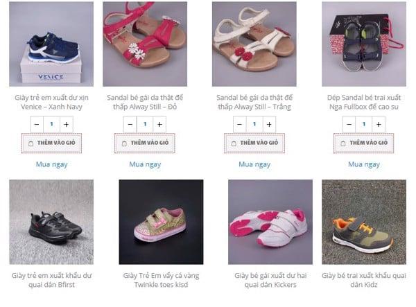 Shop giày xuất khẩu