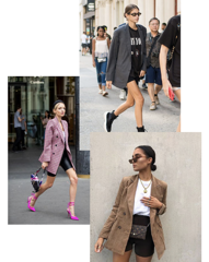 ON TREND: How to style bike shorts street style trend for fall
