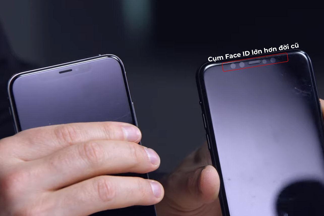 Apple iPhone 11 Max có cụm Face ID lớn hơn đời cũ