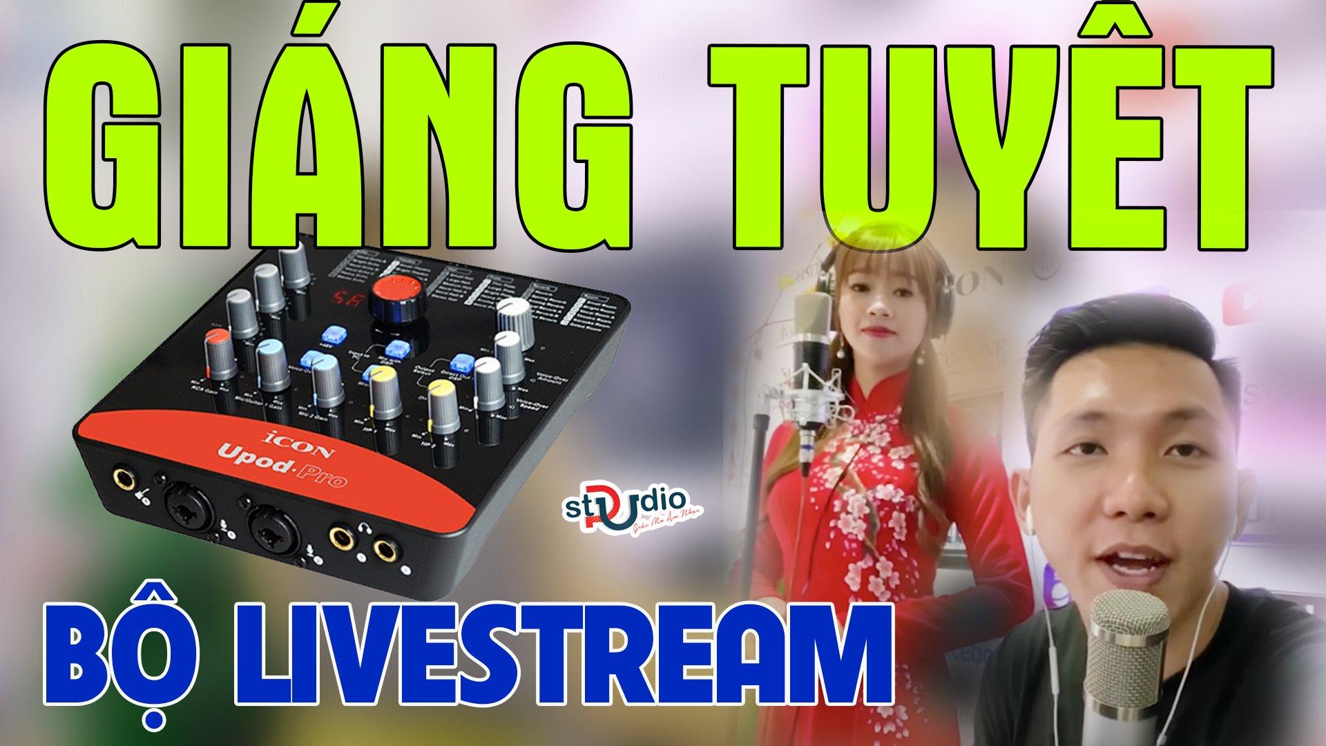 Người đến từ triệu châu hotgirl người hoa cùng bộ thu âm Icon Upod Pro Micro thu âm Takstar PCK600