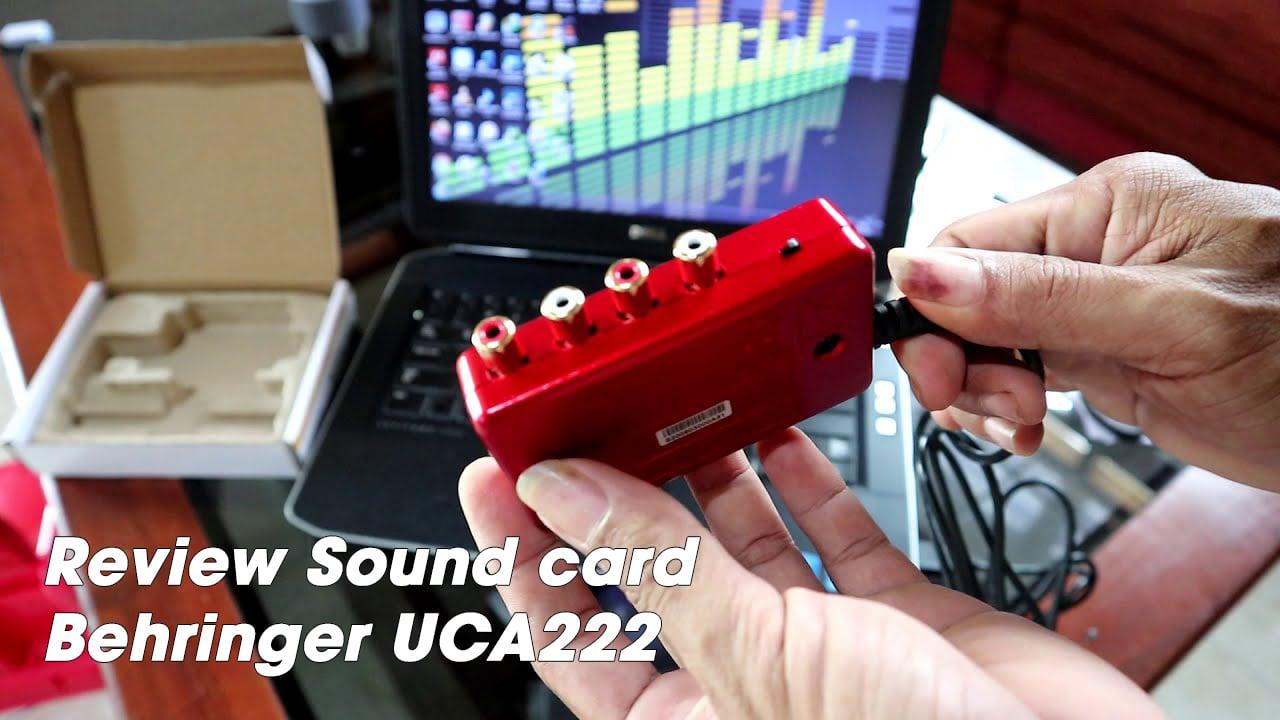 Review Sound card Behringer UCA222