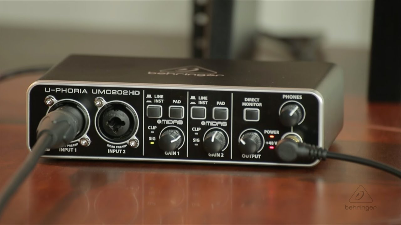UMC202HD How To - First Recording