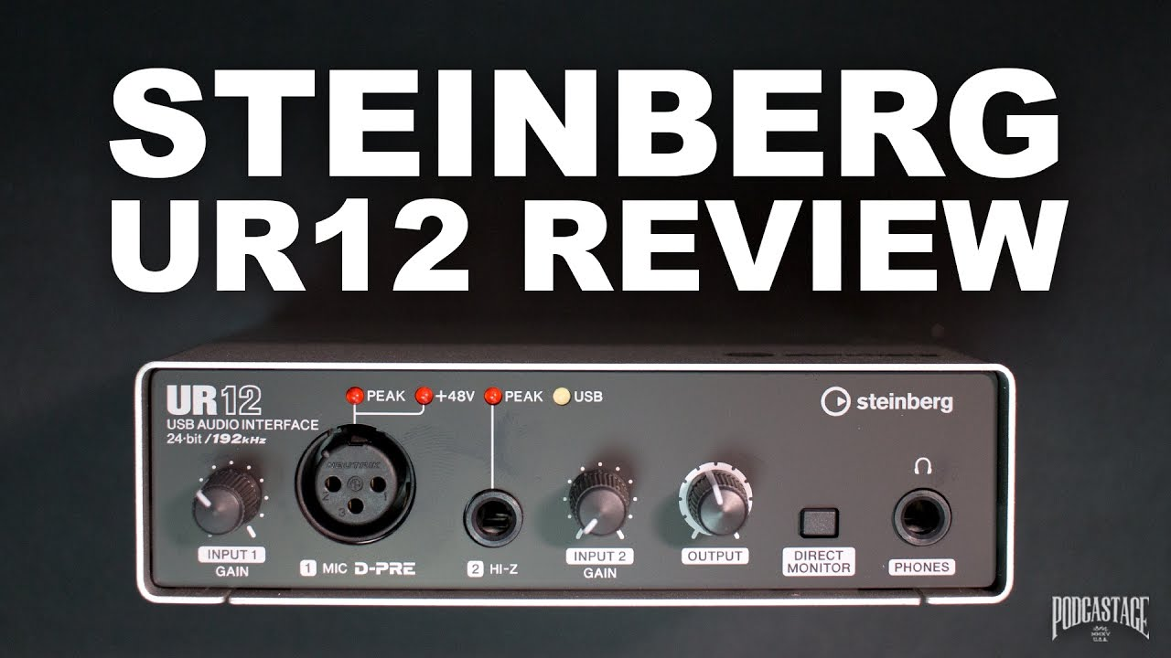 Steinberg UR12 USB Interface Review / Test