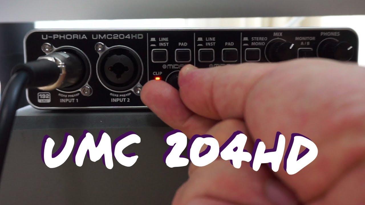 Behringer U-PHORIA UMC 204HD Interface walkthrough