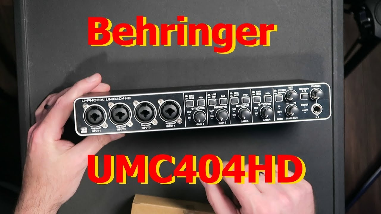 Behringer UMC404HD Unbox and Workout