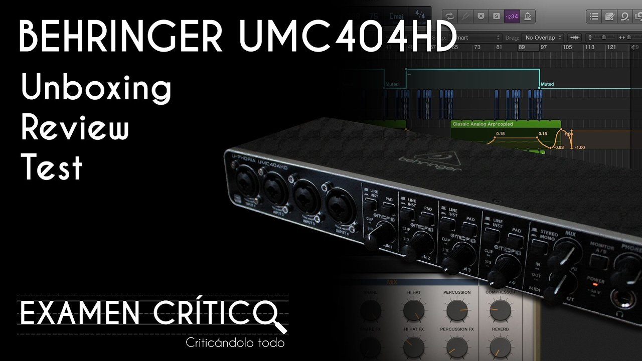Behringer UMC404HD - Unboxing, Review, Test