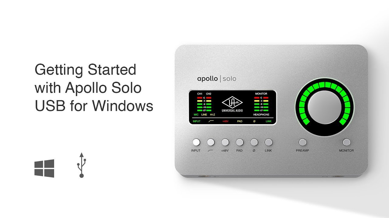 Getting Started with Apollo Solo USB for Windows