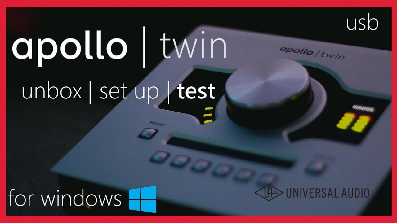 UA Apollo Twin Duo USB for Windows Unbox