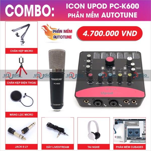 bo-thu-am-livestream-karaoke-icon-upod-pro-micro-thu-am-takstar-pck600-autotune