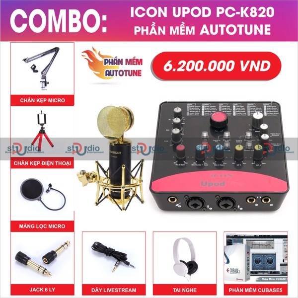 bo-thu-am-livestream-karaoke-icon-upod-pro-micro-thu-am-takstar-pck820-autotune