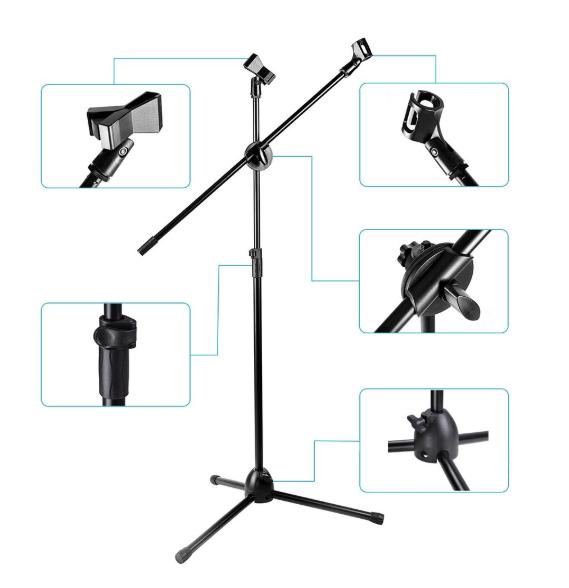 Chân Microphone đứng, Giá đỡ Mic thu âm NB 107 Boom Micro Stand
