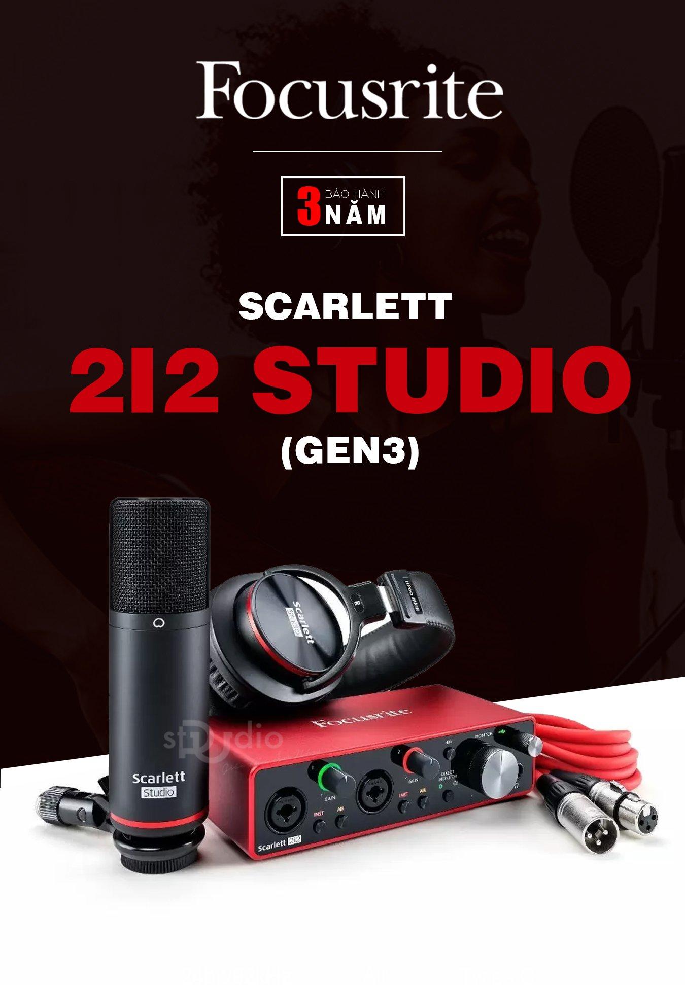 Combo nhà sản xuất Focusrite Scarlett 2i2 Studio Pack 3rd (Gen)