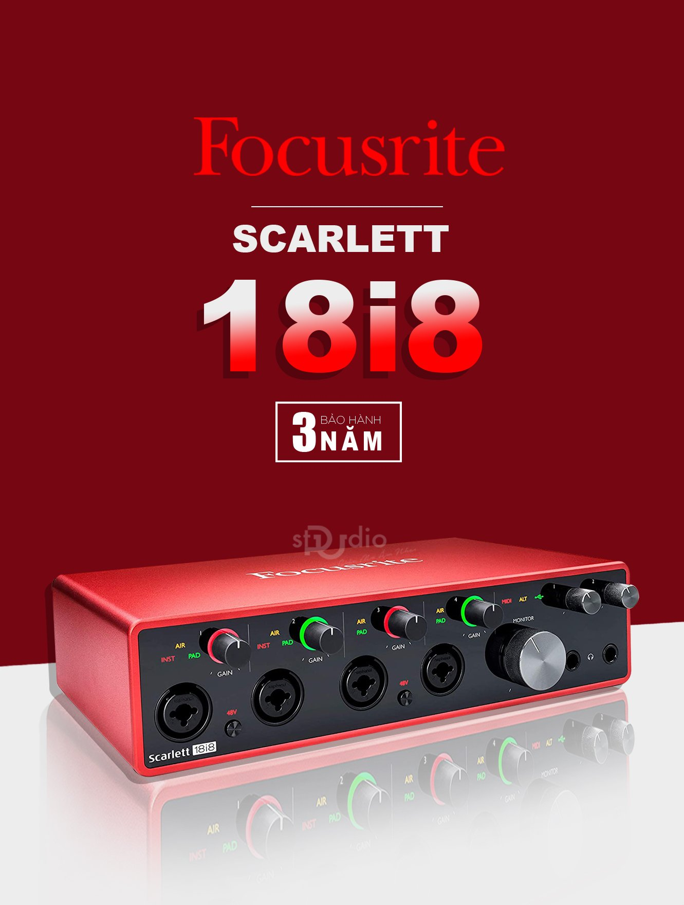 Soundcard Focusrite Scarlett 18i8 3rd Gen - Interface Studio