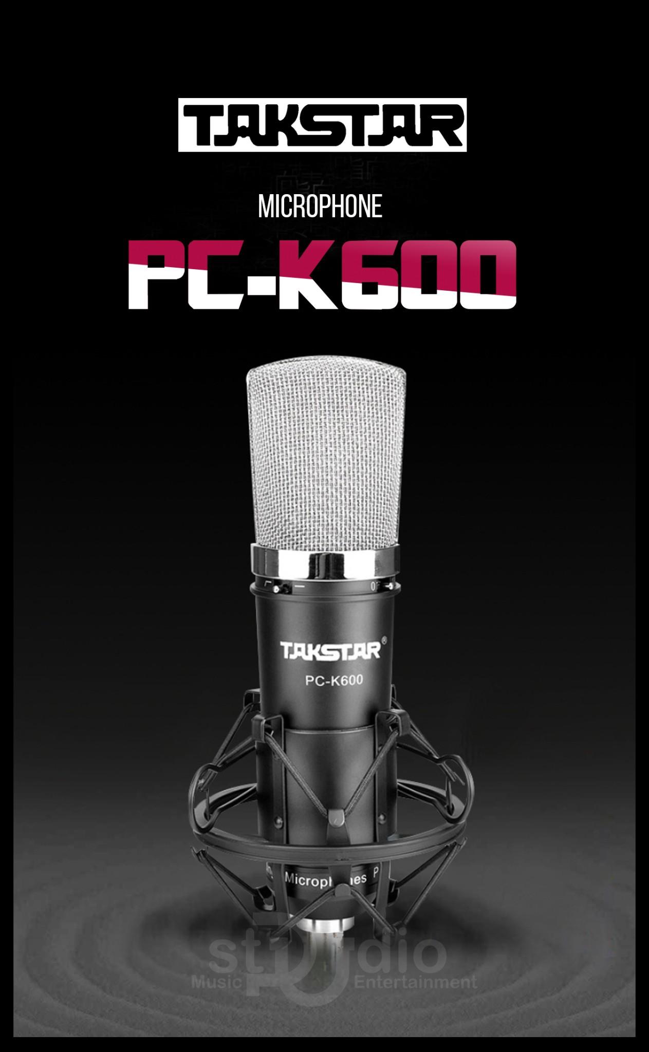 Micro thu âm cao cấp takstar pc k600, Mic thu âm hát livestream chuyên nghiệp