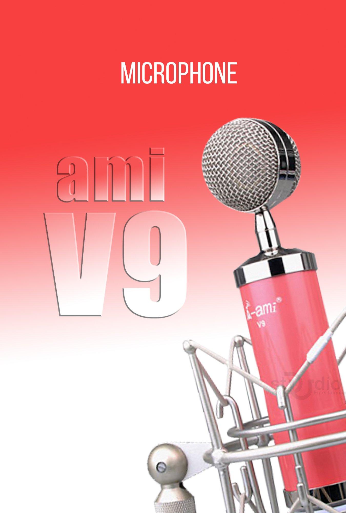 Micro livestream Ami V9 (Hồng) - Micro cho nữ chuẩn đỉnh