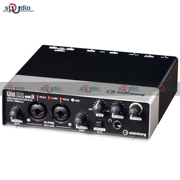 Soundcard thu âm Yamaha Steinberg UR22 MKII, Interface thu âm tại nhà