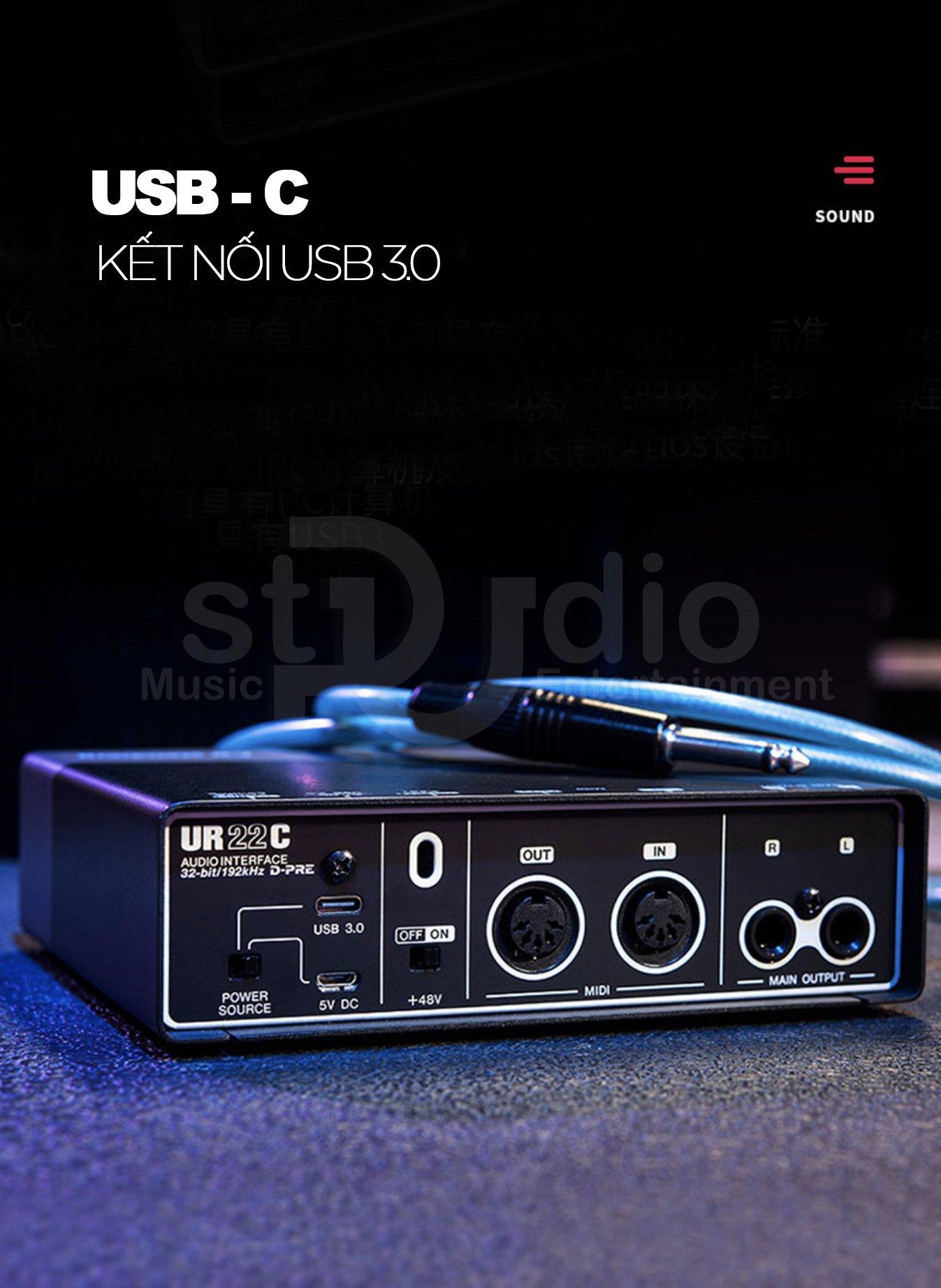 Soundcard thu âm Yamaha Steinberg UR22C, Interface thu âm cao cấp