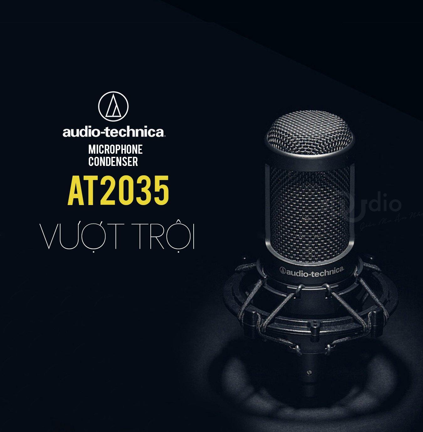 Microphone Audio Techina AT2035, Micro thu âm studio record